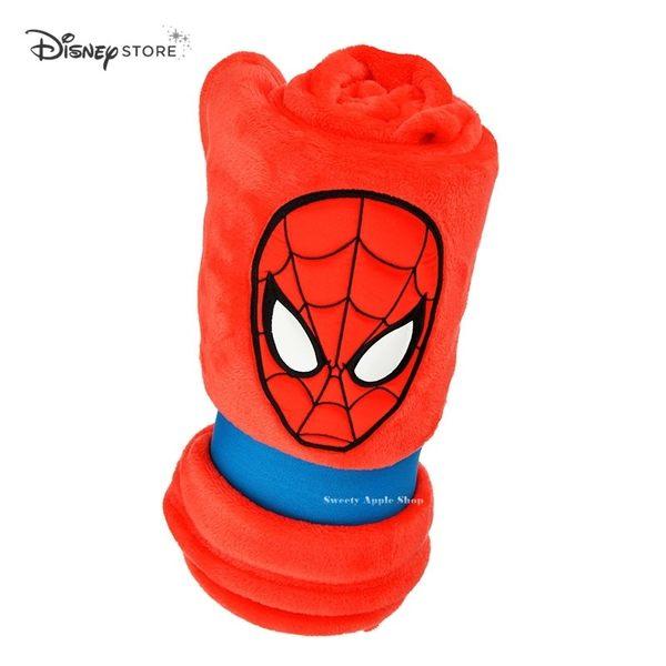 日本 Disney Store 迪士尼商店 限定  漫威系列 蜘蛛人 大臉造型 收納式 毛毯