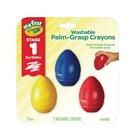 美國 Crayola 繪兒樂 幼兒可水洗蛋型蠟筆3色