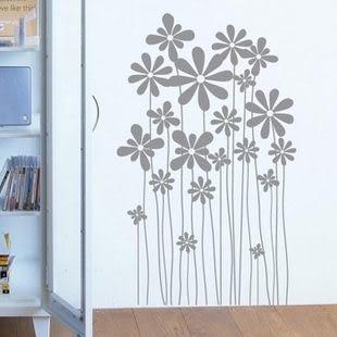 墙貼 玻璃貼 走道 花繁锦簇-kor131