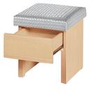 【森可家居】三朵花白橡化妝椅(皮面)10ZX169-12 抽屜置物收納 MIT台灣製造