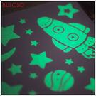 《不囉唆》宇宙星光夜光貼 裝飾/壁貼/牆貼/房間佈置/夜光貼/發光牆貼紙(可挑色/款)【A297455】