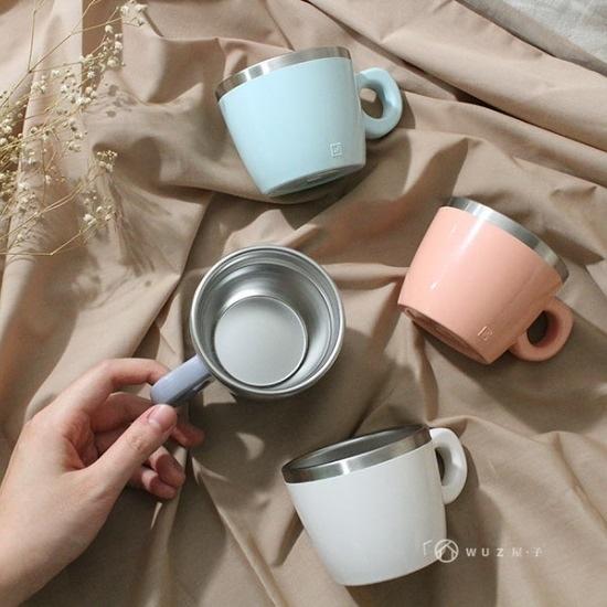 4色可選|JVR 韓國原裝 Milky馬卡龍不銹鋼馬克杯220ml 辦公杯 咖啡杯 好生活