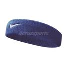 Nike 頭帶 Swoosh HeadBand 藍 白 男女款 髮帶 毛巾布 【PUMP306】 NNN0740-2OS