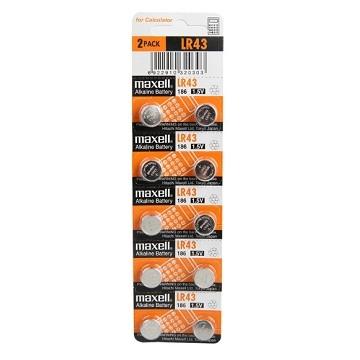 maxell LR43 1.5V鋰電池-10入裝