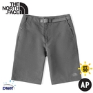 【The North Face 男 軟殼短褲《瀝青灰》】49BF/DWR/排汗/防潑水/運動褲/休閒褲/跑步