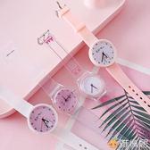 小清新學生百搭手錶ins女士韓版簡約時尚潮流休閒石英女錶可愛 雅楓居