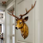 新年禮物-仿真鹿頭壁掛動物頭壁飾歐式復古創意玄關客廳玄關背景墻面裝飾品wy