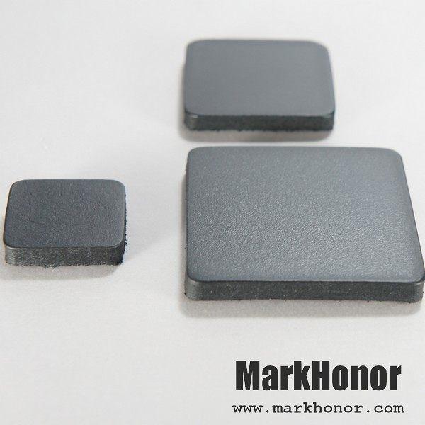 磁鐵 真皮 皮革 黑 方邊長4公分 10個-Mark Honor