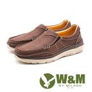 W&M (男)素面皮革休閒鞋-咖(另有棕...