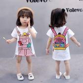 女寶寶夏裝童裝女孩夏季女童連身裙短袖T恤裙子夏天0-1-2-3歲半潮 小巨蛋之家