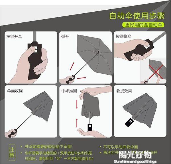 折傘雨傘韓國透明女摺疊全自動開收傘森系三摺學生晴男小清新加厚 NMS陽光好物