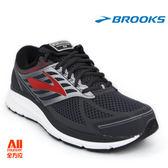 【BROOKS】男款避震型慢跑鞋 4E超寬楦 Addiction 13 - 深灰紅(614E080)-全方位跑步概念館