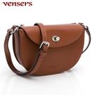 【vensers】小牛皮潮流個性包~肩背包 (NL1090802棕色)