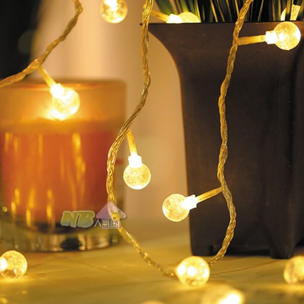 USB接頭 暖光 LED 水晶球 燈串 燈飾 (3米/20燈)