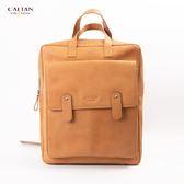 【元旦獻禮SALE】雙肩式時尚紐約客真皮手提兩用後背包 - 5281ht