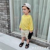 嬰兒莫代爾連帽空調衫防曬外套夏裝男童寶寶兒童裝洋氣小童潮1741 創意家居生活館