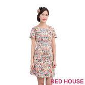 【RED HOUSE-蕾赫斯】滿版花朵厚棉洋裝(共二色)