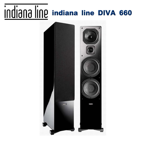 義大利 indiana line DIVA 660 落地式主聲道喇叭黑色/對