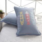 三層紗布純棉枕套加厚枕巾套一對裝全棉枕頭套單人歐式情侶枕芯套『韓女王』