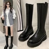 長筒靴女不過膝新款秋季馬丁厚底長靴mona同款英倫風騎士靴子 歐韓流行館
