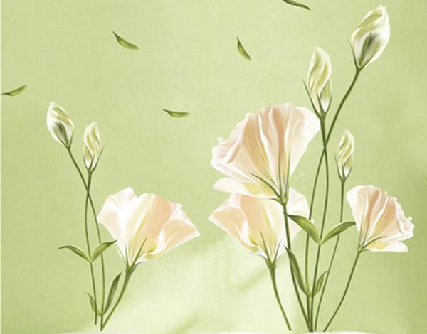 壁貼 百合花 創意壁貼 無痕壁貼 壁紙 牆貼 室內設計 裝潢【YV3824】Loxin