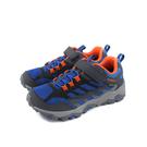 MERRELL 健行鞋 運動鞋 防水 藍色 魔鬼氈 童鞋 MLK262585 no057