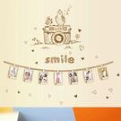 創意壁貼『Loxin smile相機照片牆』相框牆 相片牆