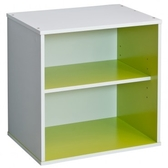 智慧生活二格櫃-綠