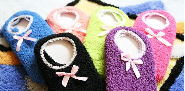 蝴蝶結防滑地板襪