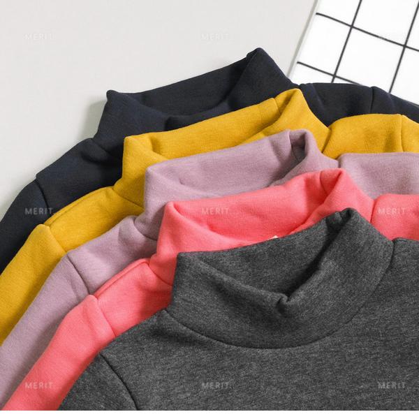 寶寶 半高領內不倒絨百搭素色內搭衣 只賣3號 保暖 刷毛 小童 打底衣 長袖上衣 哎北比童裝