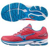 【MIZUNO 促銷7折】MIZUNO (女) WAVE RIDER 20 暢銷款 女慢跑鞋 / 紅藍