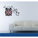 【收藏天地】RoomDeco*創意時鐘壁貼家飾-英國國旗鬧鐘 /掛鐘 時鐘貼 居家 生活用品 時鐘 禮物