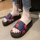 厚底拖鞋時尚厚底19居家用涼拖鞋潮外穿女室內防滑鬆糕沙灘鞋 快速出貨