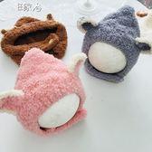 兒童毛線帽秋冬兒童寶寶毛線帽護耳帽針織帽男女童保暖帽嬰兒套頭帽子