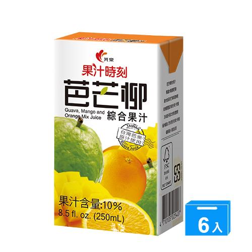 光泉果汁時刻-芭芒柳汁250mlx6入/組【愛買】