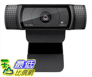 [106美國暢銷兒童軟體] Logitech HD Pro Webcam C920, Widescreen Video Calling Recording, 1080p Camera, Desktop