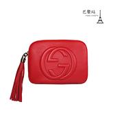 【巴黎站二手名牌專賣店】*現貨*GUCCI 真品*308364 經典雙G壓紋 Soho Disco紅色斜背相機包