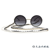 CHANEL 香奈兒 太陽眼鏡 4245 (金) 鍊環 圓框 附眼鏡鏈 3鏈款 墨鏡 久必大眼鏡