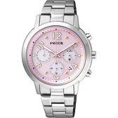 限量款 CITIZEN WICCA 魔幻女孩計時腕錶-粉/35mm KF5-012-91