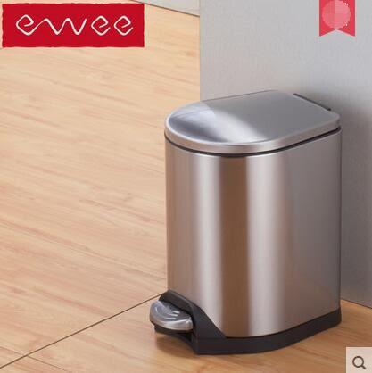 ewee/伊唯 垃圾桶不銹鋼靜音緩降防臭 蜂翼 【7L】