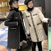 羽絨服 中長款菱格棉服女設計感小眾時尚韓版棉襖初秋小香風外套潮 韓菲兒
