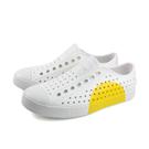native JEFFERSON BLOCK 洞洞鞋 白色 黃半圓 男女鞋 11100102-8861 no957