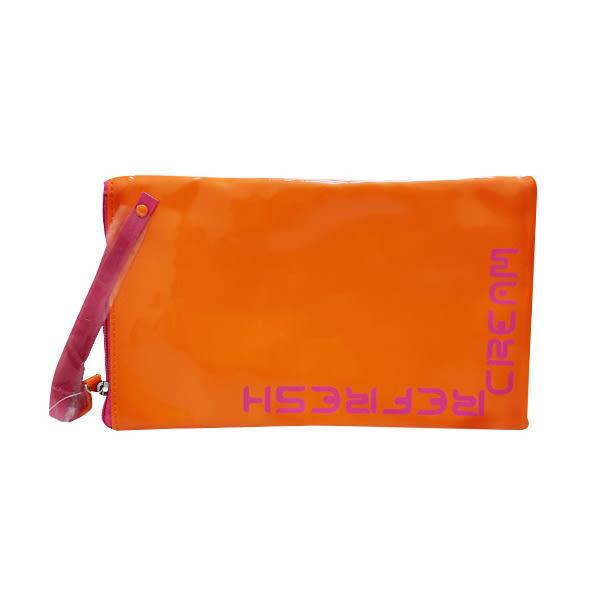 REFRESH CREAM 橘色 手拿包《Belle倍莉小舖》
