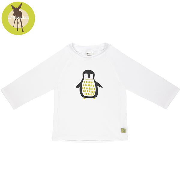德國Lassig-嬰幼兒抗UV長袖泳裝上衣-白企鵝