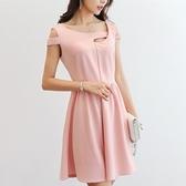 小洋裝 女裝時尚純色大碼百搭連衣裙 - 歐美韓熱銷