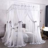 新款蚊帳家用宮廷落地公主風1.5m1.8m米床加密床幔雙層三開門   西城故事