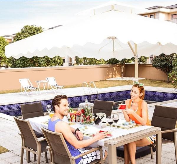 戶外遮陽傘庭院傘太陽傘沙灘傘摺疊大型傘廣告傘擺攤傘戶外傘  WD