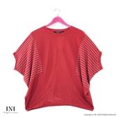 【INI】注目寬袖、輕盈柔軟觸感寬袖上衣.橙色