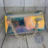 BRAND楓月 LOUIS VUITTON LV M55261 POCHETTE VOLGA 透明 白拉鍊 炫彩 手拿包