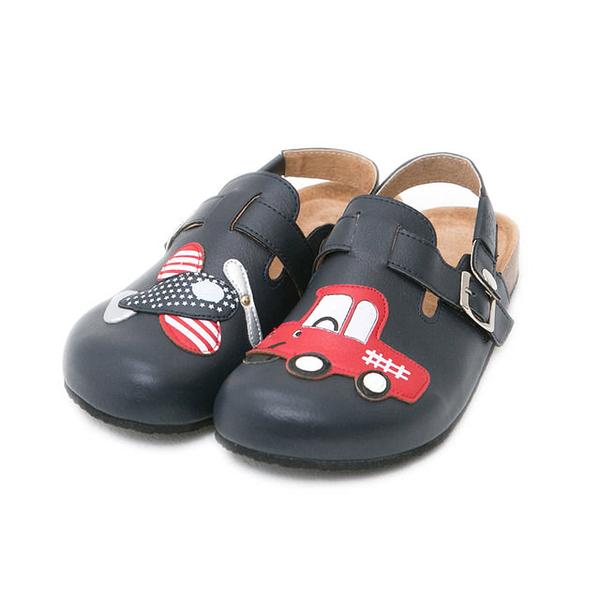 【Jingle】美國大飛機前包後空軟木鞋(經典藍大人款)